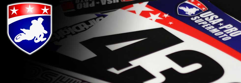 Official USA Pro Supermoto Preprinted Backgounds