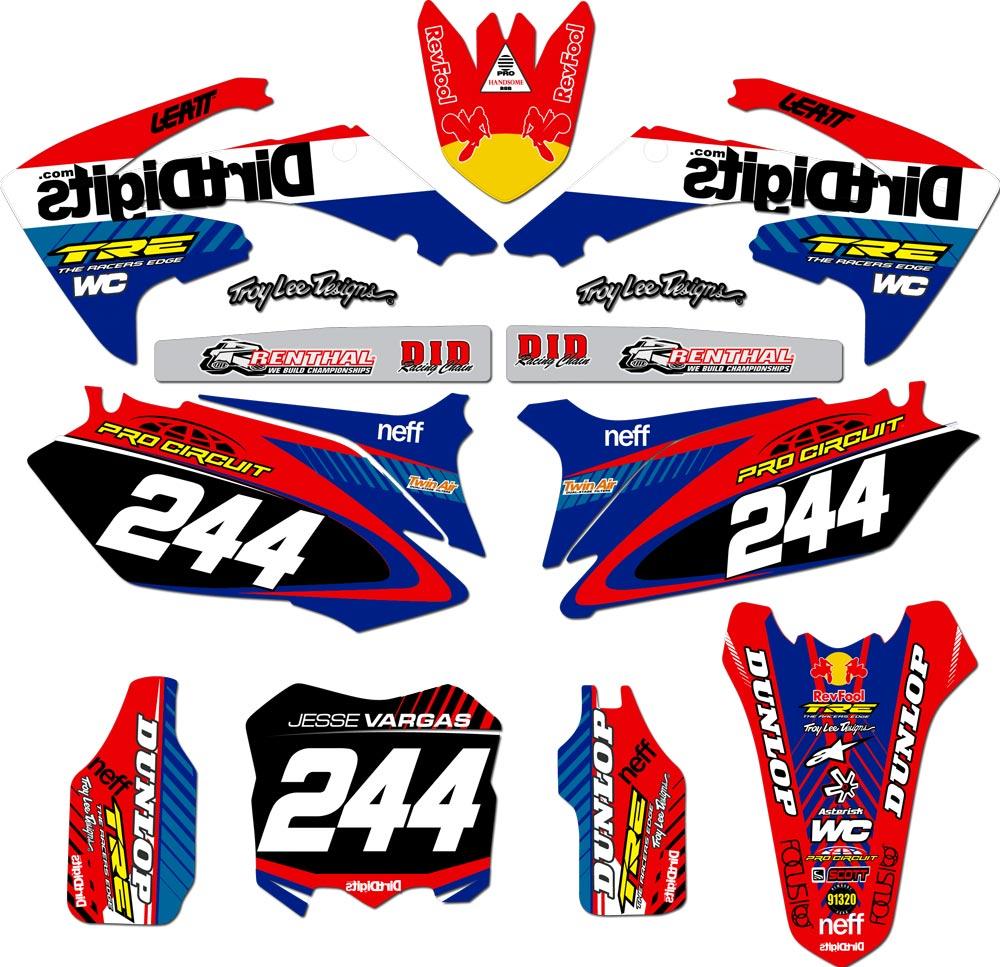For Honda Bikes J-VARG Complete Custom Graphic Kit Plus