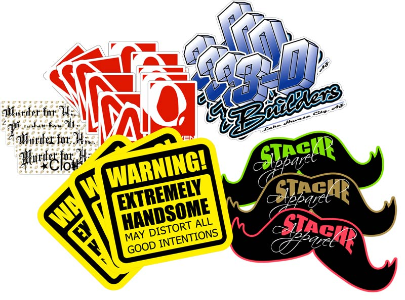 Super Thick Custom Printed Small Run Decals Stickers Sports - Custom vinyl stickers logo