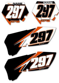 Dirt Digits Ktm Custom Factory Line Preprinted Number Plate Background Graphics