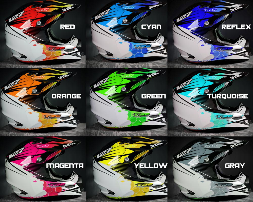 Custom Helmet Wrap Graphic - Vinyl wrap for motorcycle helmets
