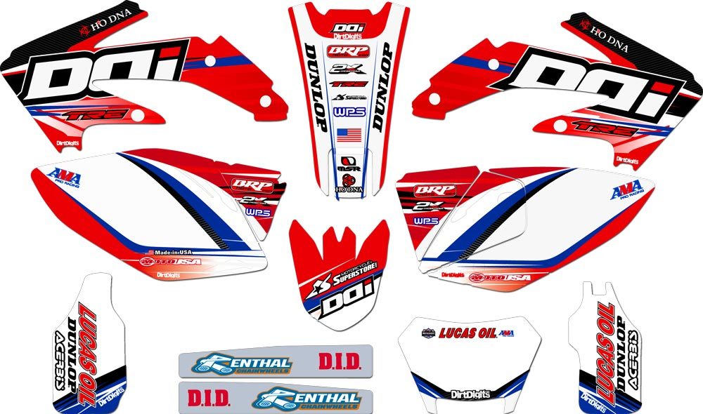 For Honda Bikes JC12 Complete Custom Graphic Kit Plus